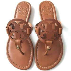 Tory Burch Vintage Vachetta Leather Miller Sandals